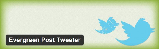 Evergreen post tweeter wordpress plugin