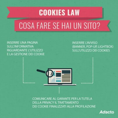 cookie law come adeguare un sito