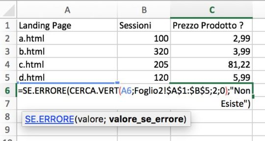 Excel Iferror